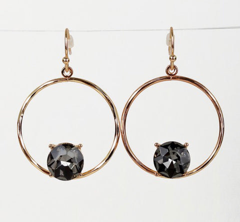 1 inch circle hook earrings
