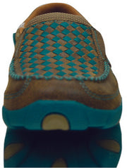 Twisted X Womens Casual Driving Mocs Boat Slip On - Bomber/Turquoise