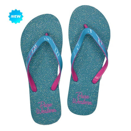 Pure Western Ladies Blue Glitter Thongs