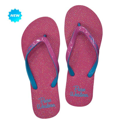 Pure Western Ladies Pink Glitter Thongs