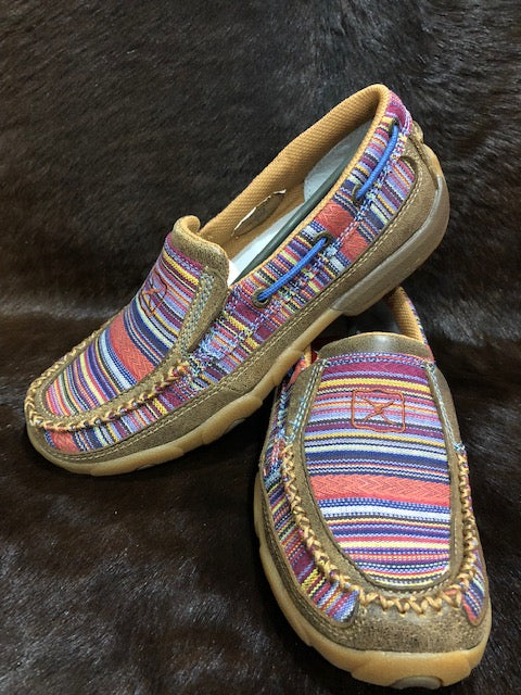 Twisted X Ladies Casual Driving Moc- Bomber/ Multi Serape