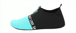 Mens & Womens Non-slip Quick-drying Beach Shoes Black with Highlight