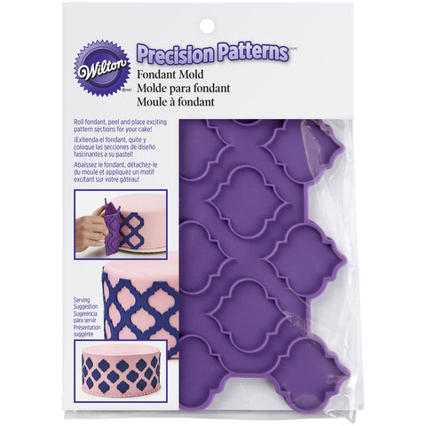 SILICONE PRECISION PATTERNS – TRELLIS GEOMETRIC - Onlay mould - quaterfoil