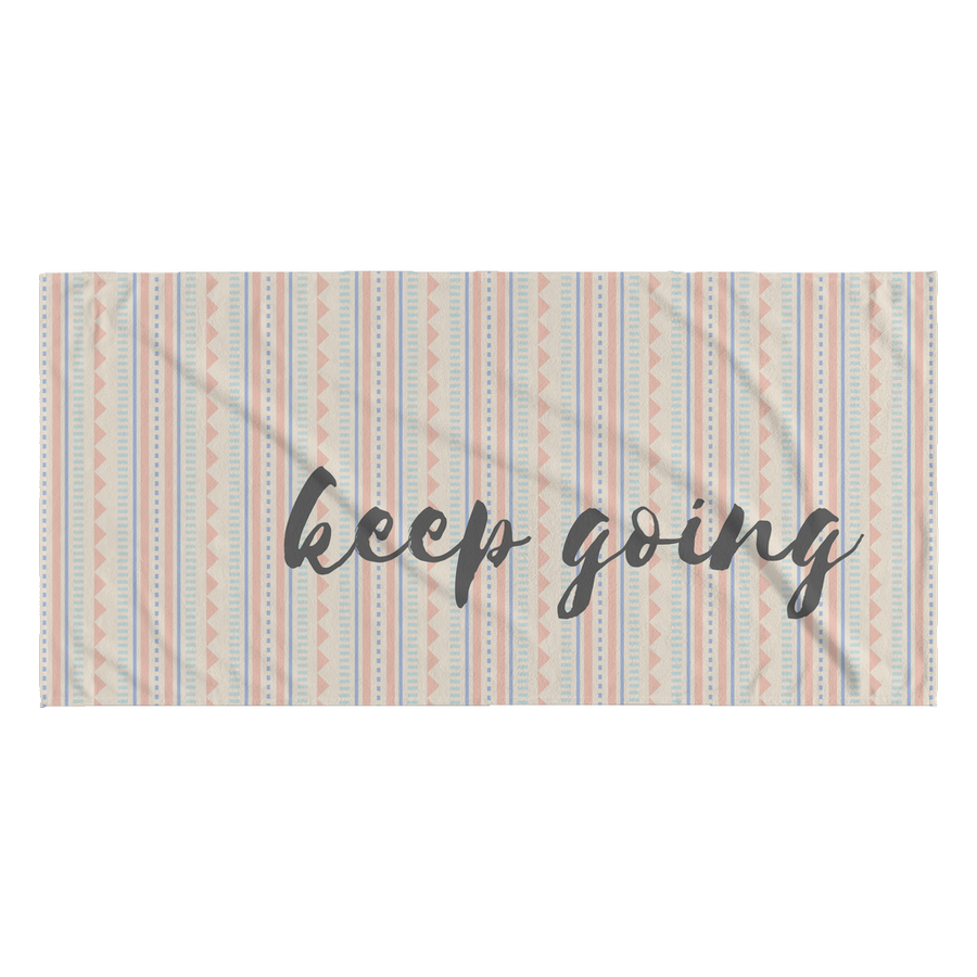 'Keep Going' Inspirational Love Yourself Quotes Towel