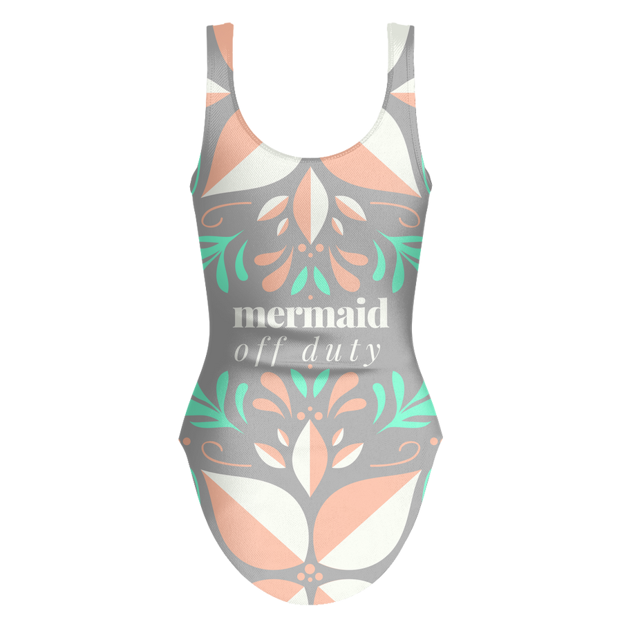 'Mermaid off duty' Summer Quotes One-piece Swimsuit