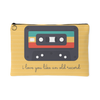 'I love you like an old record' Love Quotes Yellow Pouch