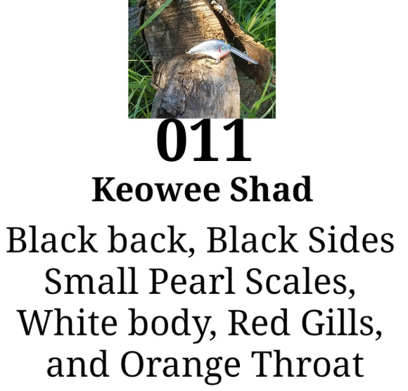 011 Keowee Shad Little Runt ( Formely Little Earl) (7-10ft depth)