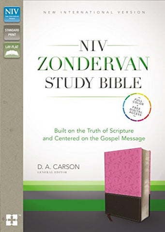 NIV, Zondervan Study Bible, Imitation Leather, Pink/Brown: Built on the Truth of Scripture and Centered on the Gospel Message