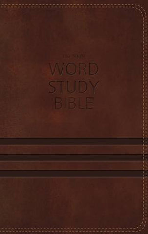 NKJV Word Study Bible, Imitation Leather, Brown: 1,700 Key Words that Unlock the Meaning of the Bible