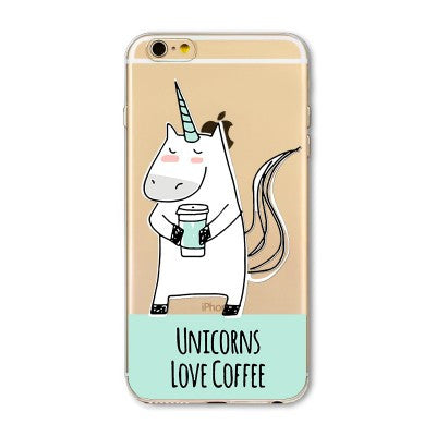 FundaCornio Unicorn Cartoon - Love Coffee