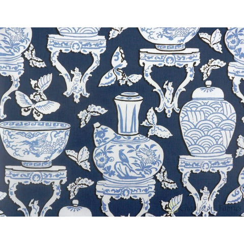 P Kaufmann Ginger Jar 002 Indigo Prints Fabric