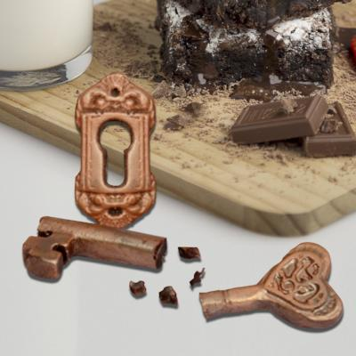 Chocolate Heart Key & Escutcheon