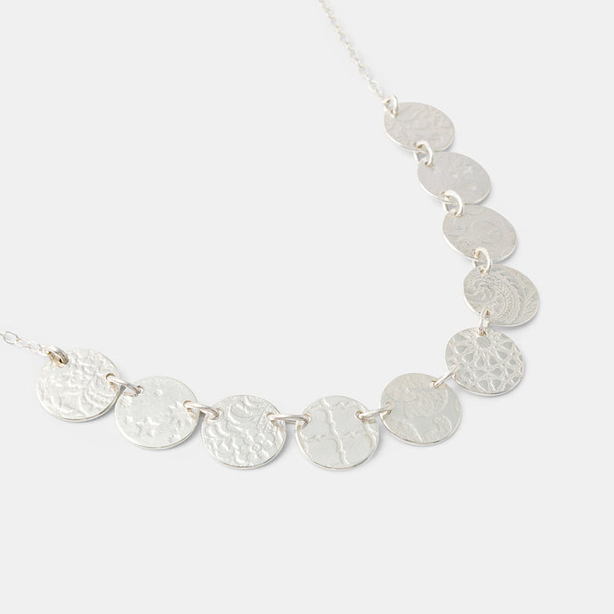 Unique silver chain necklace for women handmade by handcrafted jewellery designer Simone Walsh.
