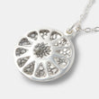 Handmade designer jewelry: sterling silver pendant necklace for women with a geometric design and sterling silver chain in our handcrafted jewelry online shop.