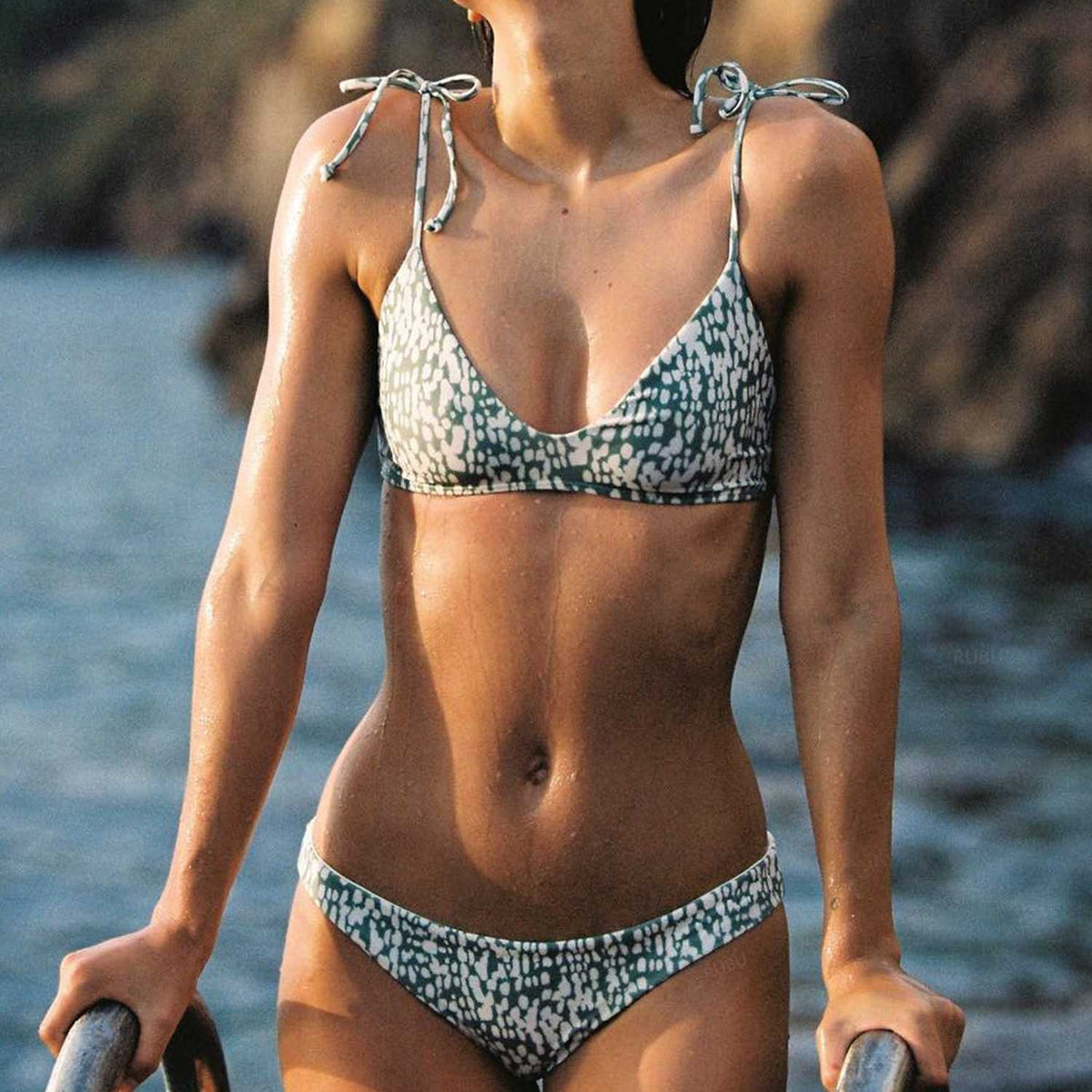 Cute Spots Triangle Bikini Set - worthtryit.com