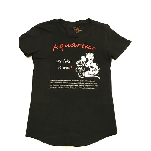 Aquarius Woman Scoop-neck Zodiac Tee