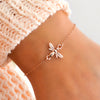 SUMMER Cute Honey Bee Charm Bracelet (Sterling Silver, Gold, Rose Gold)