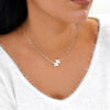 TYRA Jigsaw Puzzle Piece Choker Necklace (Sterling Silver, Gold, Rose Gold)