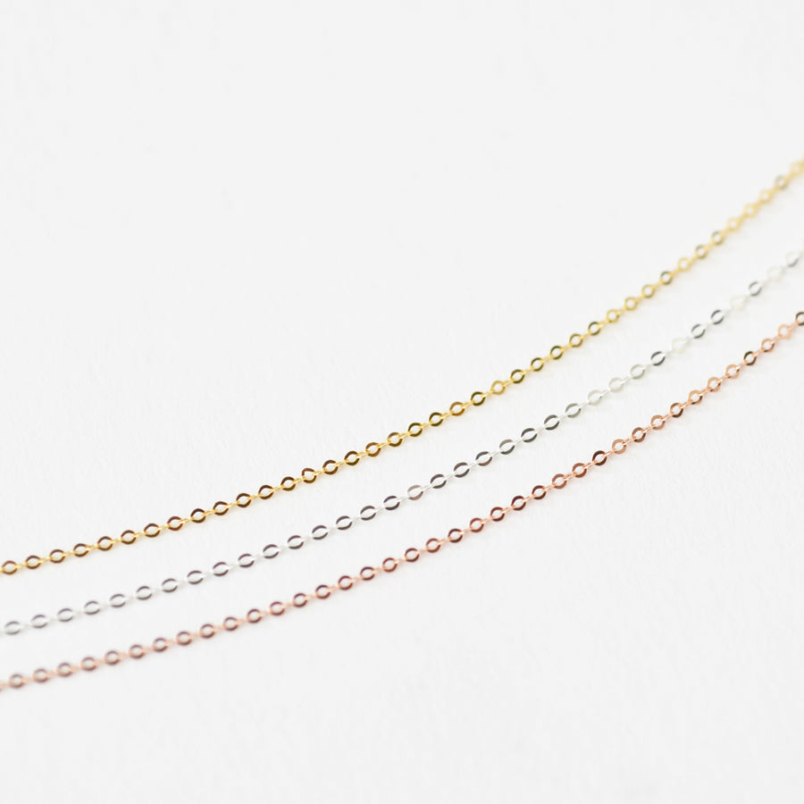 MYLA Delicate Dainty Karma Infinity Circles Chain Choker Necklace (Sterling Silver, Gold, Rose Gold)