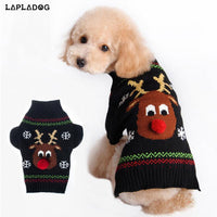 Gift Warm Winter Cute Puppy Knitted Clothes Pet Christmas Holiday