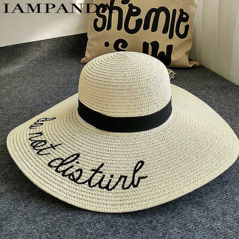 "Embroidery ""Do Not Disturb"" Summer Hat"