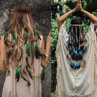 Braid Hair Halloween Costume Feather Hippie Gypsy Hippie Boho American Native Indian