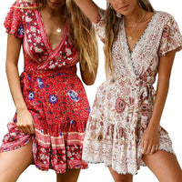 Floral Flower Florida Miami Summer Strap Spaghetti Sexy Mini Lace Fun Dress Beach