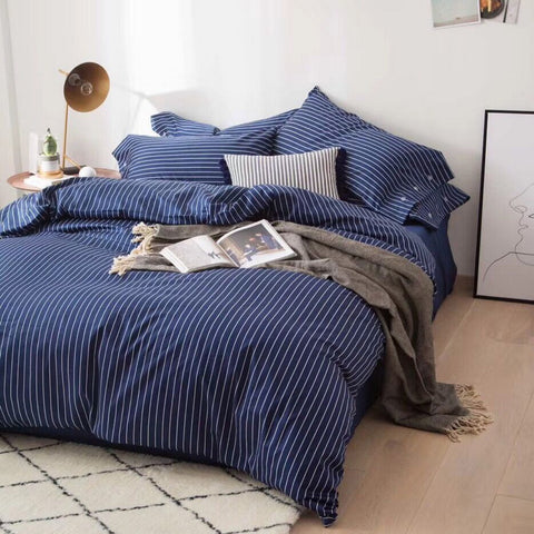 3 pcs Stripe Duvet over