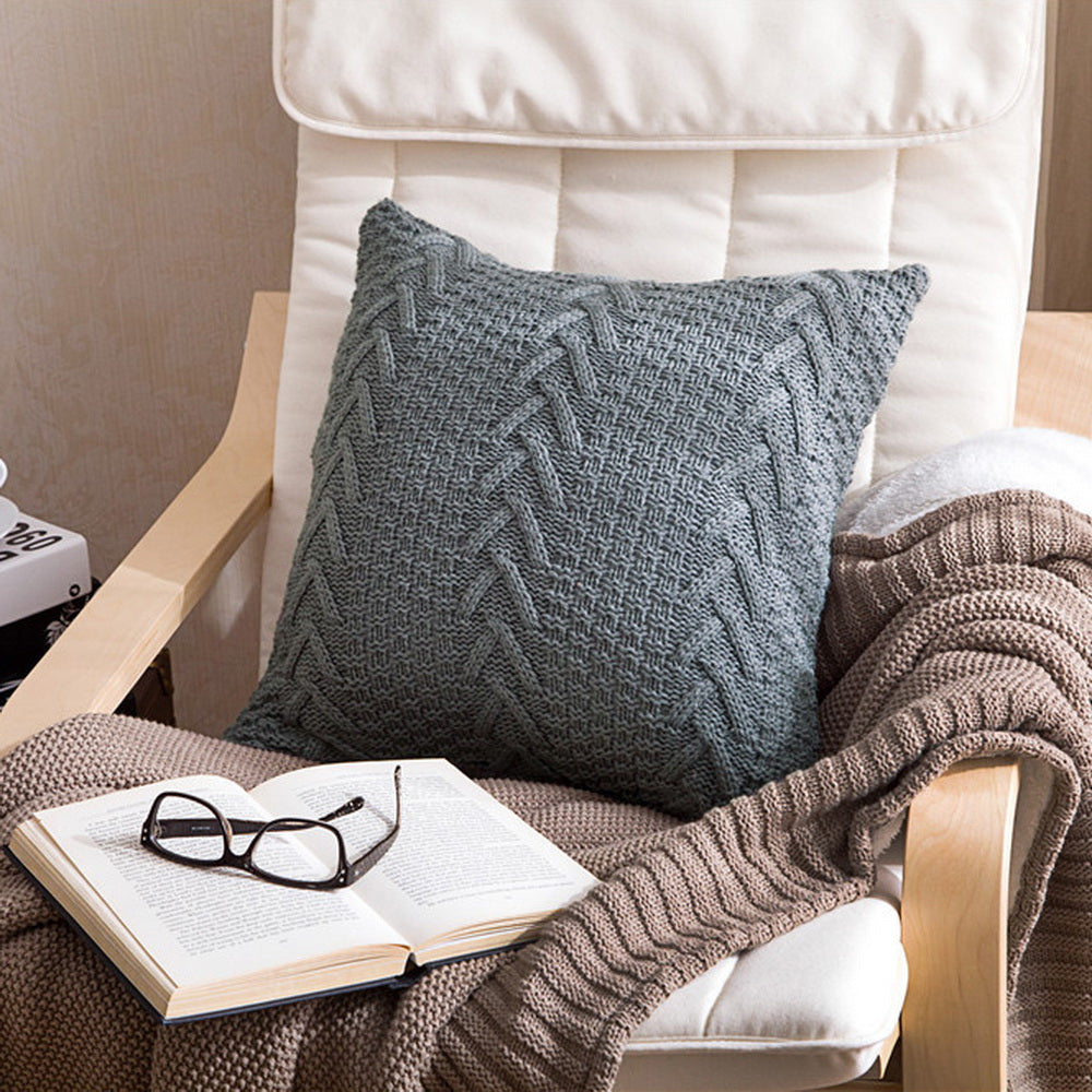 Knitted  pillowcase without  Pillow Core for Bed and Sofa