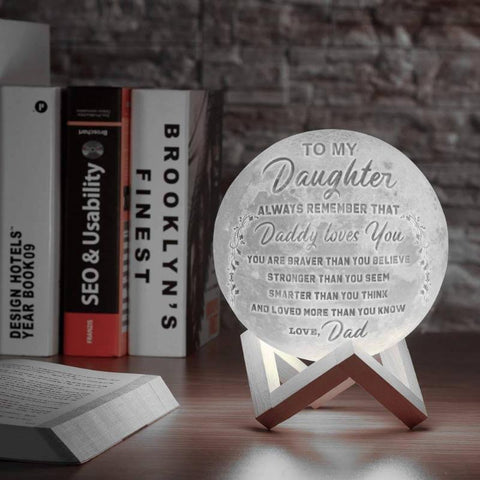 Personalized 3D Moon Lamp With Custom Photo/Text Custom