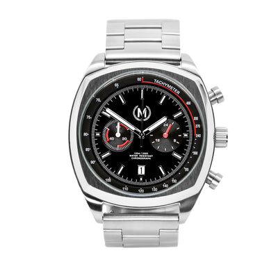 CLASSIC DRIVER CHRONOGRAPH, METAL STRAP - Marchand Watch Company