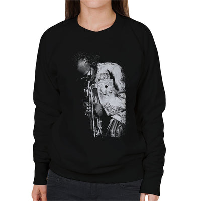 Miles Davis Playing In London 1986 Women's Sweatshirt