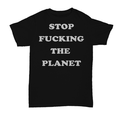 Stop F**king The Planet Worn By Debbie Harry Men's T-Shirt - NME Merch