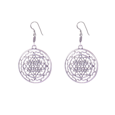 Contemporary fashion silver finish earrings