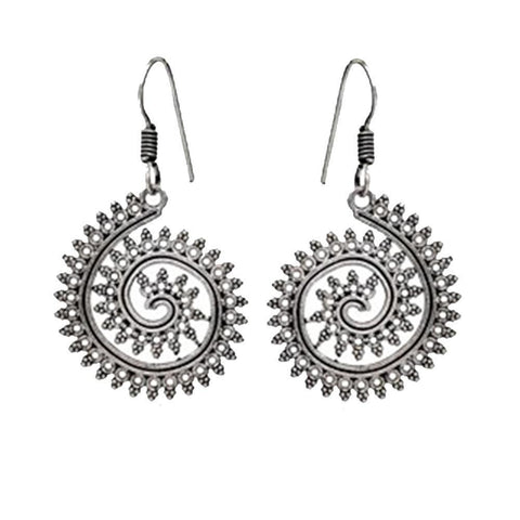 Inspired lovely art spiral earrings