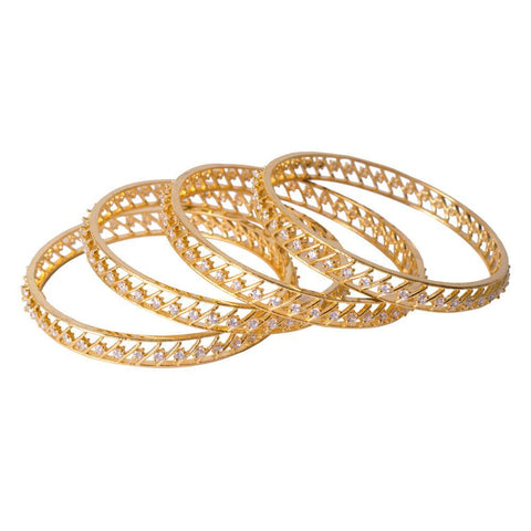 Paattern gold plated bangles