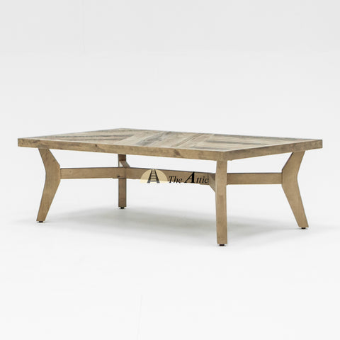 Reva Parquet Retro Reclaimed Pine Timber Coffee Table