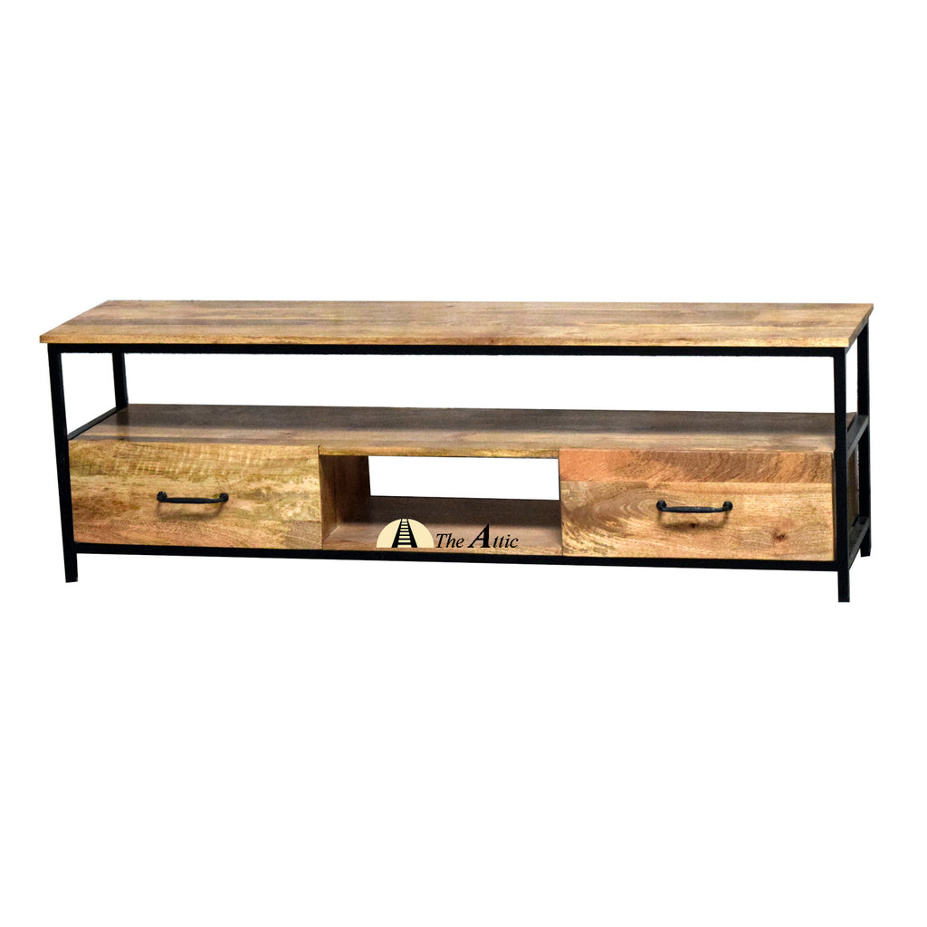 Modern Minimalist TV Unit, Industrial media cabinet, entertainment console