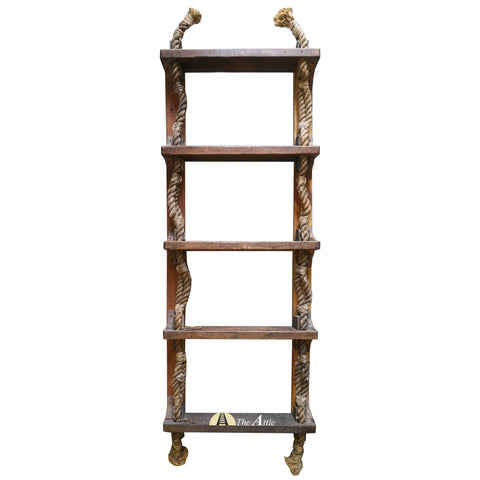 5 Step Original Nautical Rope Ladder Shelf