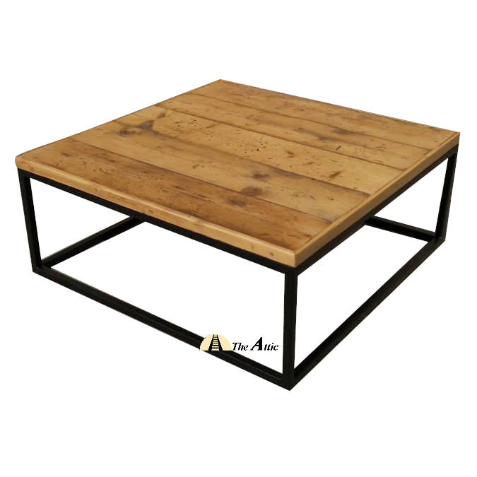 Square Reclaimed Pine Coffee Table
