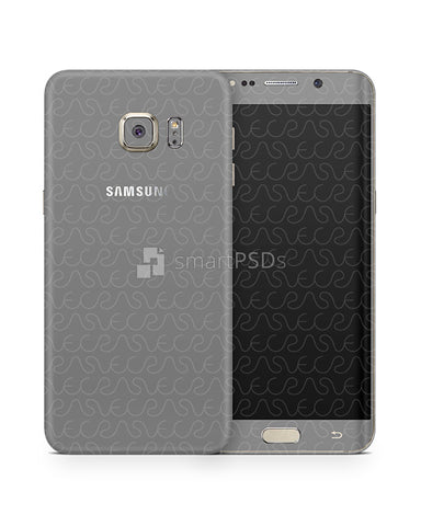 Samsung Galaxy S6 Edge Plus Vinyl Skin Design Mockup 2015
