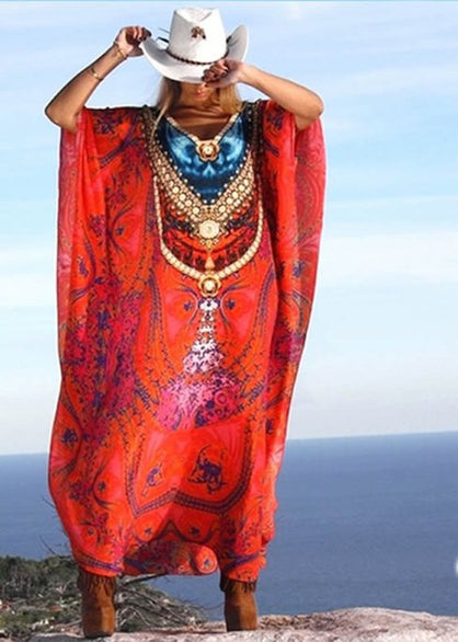 Red caftan. Rose des Sables