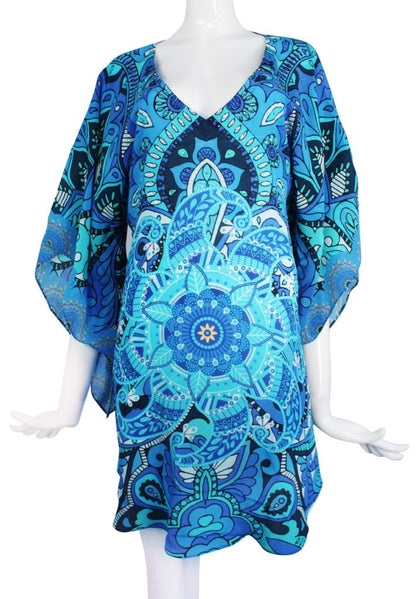 Blue silk tunic. Mystere
