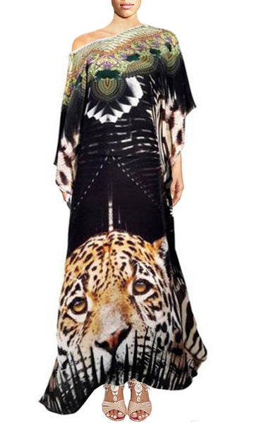 Kaftan dress leopard. Miami