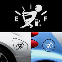 Funny Car Sticker Pull Fuel Tank Pointer
