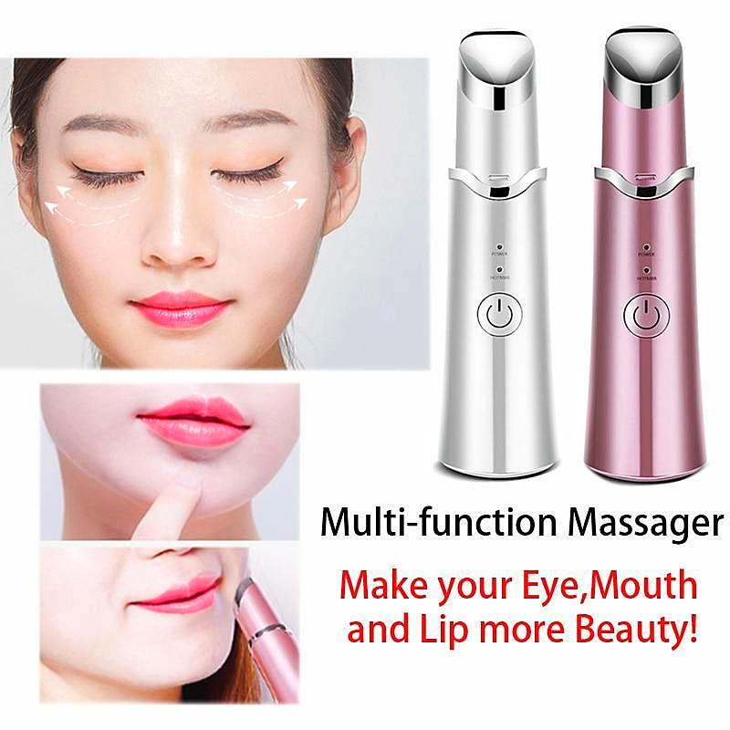 Multi-function Electric Eyes Lips Massager USB Rechargeable Anti Aging Wrinkle Lip Massage Tool Facial Skin Care Beauty Device