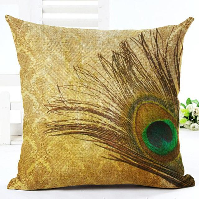 Peacock Pillow Cover