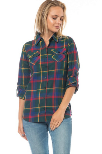 Flannel Button-down