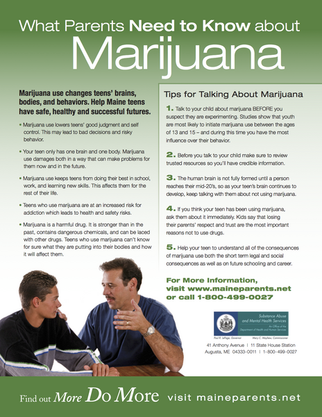 What Parents Need to Know about Marijuana