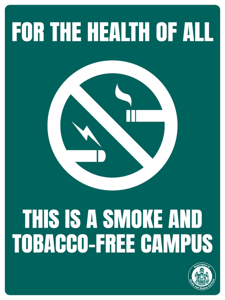 Smoke and Tobacco-Free Campus Sign